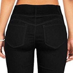 Wax Jean Butt, I Love You Black Skinny Pants 7